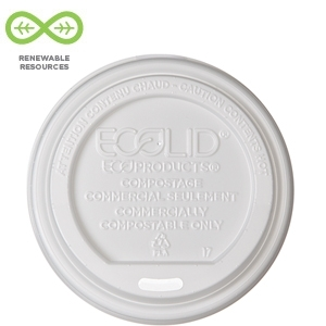 EcoLid Hot Cup Lids, Fits 355-590ml (12-20oz) - 800pcs