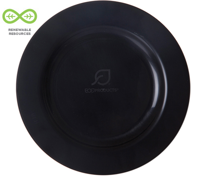 "10.25"" Black Compostable Plates"