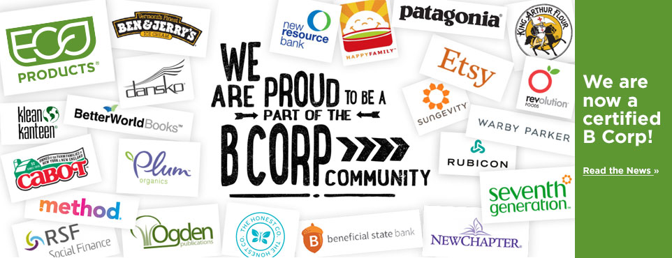Eco-Products is now a certified B Corps